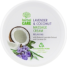 Fragrances, Perfumes, Cosmetics Relaxing Massage Cream - Bulgarian Rose Herbal Care Lavender & Cococnut Massage Cream