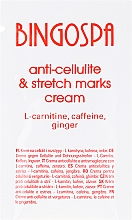 Fragrances, Perfumes, Cosmetics Anti-Cellulite and Stretches Cream with L-Keratin, Caffiene and Ginger - BingoSpa Cream For Cellulite