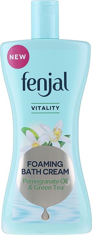 "Bath Cream ""Pomegranate Oil & Green Tea"" - Fenjal Vitality Pomegranate Oil & Green Tea Foaming Bath Cream"