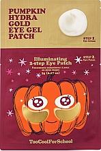 Fragrances, Perfumes, Cosmetics Two-Step Hydrogel Patches with Pumpkin Extract & Colloidal Gold - Too Cool For School Pumpkin Hydra Gold Eye Gel Patch