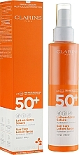 Fragrances, Perfumes, Cosmetics Sun Protection Milk Spray - Clarins Lait-en-Spray Solaire Corps 50+