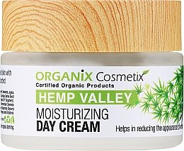 Fragrances, Perfumes, Cosmetics Moisturizing Day Face Cream - Organix Cosmetix Hemp Valley Moisturizing Day Cream