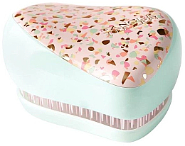 Fragrances, Perfumes, Cosmetics Compact Hair Brush - Tangle Teezer Compact Styler Apricot Leopard