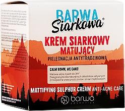 Fragrances, Perfumes, Cosmetics Mattifying Sulfur Cream - Barwa Anti-Acne Cream Sulfuric