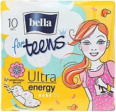 Fragrances, Perfumes, Cosmetics Teens Pantiliners Ultra Energy, 10 pcs - Bella