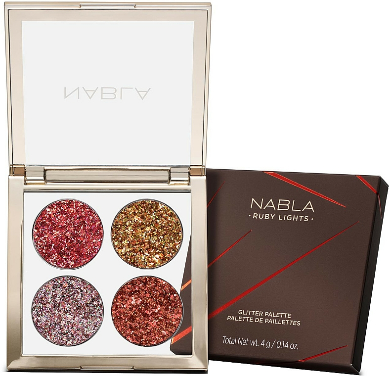 Eyeshdow Palette - Nabla Ruby Lights Collection Glitter Palette