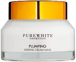 Fragrances, Perfumes, Cosmetics Firming Jasmine Facial Cream-Mask - Pure White Cosmetics Plumping Jasmine Cream Mask