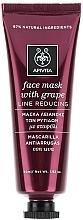 Fragrances, Perfumes, Cosmetics Anti-Wrinkle Grape Face Mask - Apivita Moisturizing Fase Mask With Grape