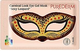 Fragrances, Perfumes, Cosmetics Collagen Eye Mask - Purederm Carnival Look Eye Gel Mask Sexy Leopard