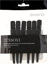 Fragrances, Perfumes, Cosmetics Carbon Hair Clips, black - Lussoni