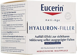Fragrances, Perfumes, Cosmetics Anti-Wrinkle Night Cream for All Skin Types - Eucerin Hyaluron-Filler Night