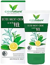 "Fragrances, Perfumes, Cosmetics Night Face Cream ""Detox"" - Cosnature Night Cream Detox Green Tea"