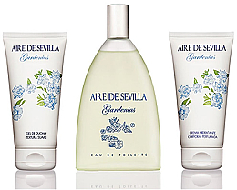 Fragrances, Perfumes, Cosmetics Instituto Espanol Aire De Sevilla Gardenias - Set (edt/150ml + cream/150ml + sh/gel/150ml)