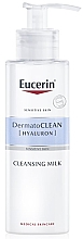 Fragrances, Perfumes, Cosmetics Cleansing Milk for Dry & Sensitive Skin - Eucerin DermatoClean Hyaluron Cleansing Milk
