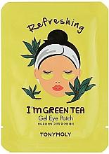 Fragrances, Perfumes, Cosmetics Green Tea Gel Eye Patches - Tony Moly Refreshing Im Green Tea Eye Mask