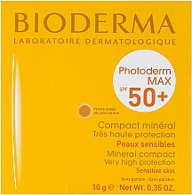 Fragrances, Perfumes, Cosmetics Sun Protection Mineral Powder - Bioderma Photoderm Max SPF50+ Mineral Compact