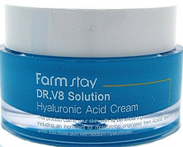Fragrances, Perfumes, Cosmetics Anti-Wrinkle Brightening Hyaluronic Acid Face Cream - FarmStay DR.V8 Solution Hyaluronic Acid Cream