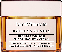 Fragrances, Perfumes, Cosmetics Firming & Smoothing Neck Cream - Bare Escentuals Bare Minerals Moisturizer Ageless Genius Firming & Wrinkle Smoothing Neck Cream