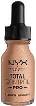 Fragrances, Perfumes, Cosmetics Illuminating Foundation - NYX Professional Total Control Pro Drop Foundation Illuminator