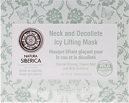 Fragrances, Perfumes, Cosmetics Ice Firming Neck and Decollete Mask with Lifting Effect Anti-Age - Natura Siberica