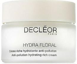 Fragrances, Perfumes, Cosmetics Face Cream - Decleor Hydra Floral Anti-Pollution Hydrating Rich Cream