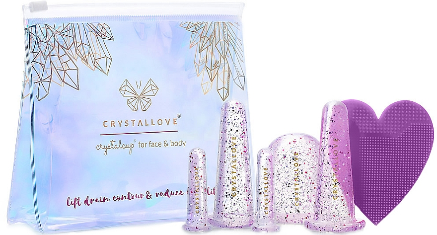 Face and Body Massage Silicone Cups - Crystallove Crystalcup For Face & Body