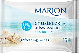 "Fragrances, Perfumes, Cosmetics Refreshing Wipes ""Sea Breeze"", 15 pcs - Marion"