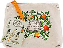 Fragrances, Perfumes, Cosmetics Set - Panier des Sens Travel set Orange Blossom (h/cr/30ml + sh/gel/50ml + b/lot/50ml + edt/3.5ml)