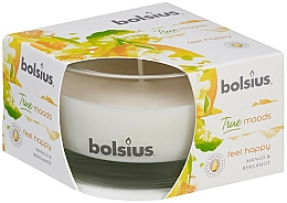 """Fragrances, Perfumes, Cosmetics Scented Candle in Glass """"Mango and Bergamot"""", 50/80 mm - Bolsius True Moods Candle"""