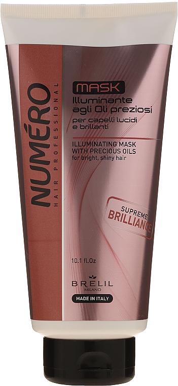 Illuminating Hair Mask with Precious Oils - Brelil Numero Illuminating Mask With Precious Oils