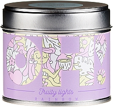 """Fragrances, Perfumes, Cosmetics Scented Candle """"Rainbow"""" - Oh!Tomi Fruity Lights Rainbow Candle"""