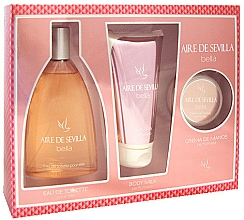 Fragrances, Perfumes, Cosmetics Instituto Español Aire de Sevilla Bella - Set ( edt/150ml + b/milk/150ml + hand/cr/50ml)