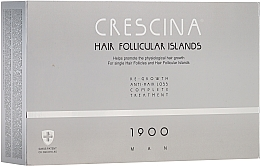 Fragrances, Perfumes, Cosmetics Men Anti Hair Loss Treatment Complex - Crescina Hair Follicular Island Re-Growth+Anti-Hair Loss 1900 Man