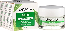 Fragrances, Perfumes, Cosmetics Aloe Vera & Hyaluronic Acid Anti-Wrinkle Moisturizing Cream - Gracja Aloe Moisturizing Face Cream