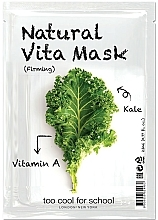 """Fragrances, Perfumes, Cosmetics Firming Facial Sheet Mask """"Cabbage"""" with Vitamin A - Too Cool For School Natural Vita Mask Firming"""