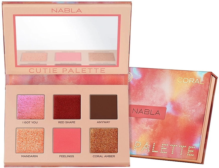 Eyeshadow Palette - Nabla Cutie Collection Palette Coral