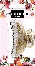 Fragrances, Perfumes, Cosmetics Hair Clamp, 417624, golden-milky with stones - Glamour