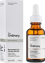 Fragrances, Perfumes, Cosmetics Resveratrol 3% + Ferulic Acid 3% Serum - The Ordinary Resveratrol 3% + Ferulic Acid 3%