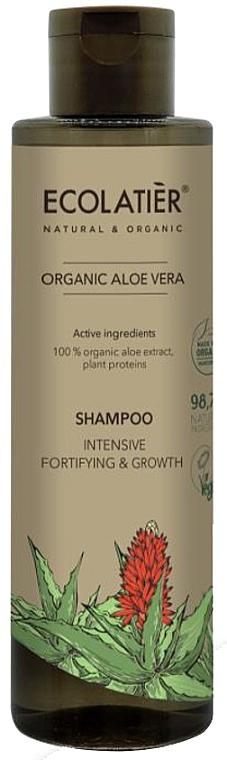 "Hair Shampoo ""Intensive Repair & Growth"" - Ecolatier Organic Aloe Vera Shampoo"