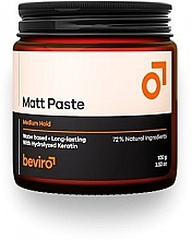 Fragrances, Perfumes, Cosmetics Hair Paste - Beviro Matt Paste Medium Hold