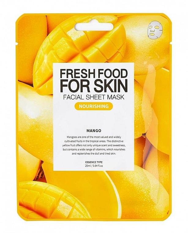 Mango Sheet Mask - Superfood for Skin Farmskin Fresh Food Mango Mask — photo N1