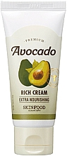 Fragrances, Perfumes, Cosmetics Avocado Extract Face Cream for Chapped and Dry Skin - SkinFood Premium Avocado Rich Cream