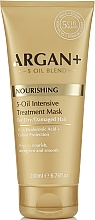 Fragrances, Perfumes, Cosmetics Dry and Damaged Hair Mask - Argan + Nourishing 5-Oil Intensive Treatment Mask