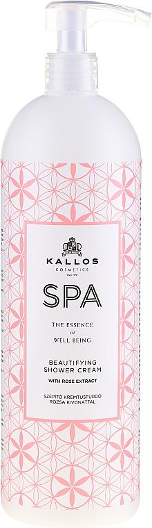 Moisturizing Rose Extract Shower Gel - Kallos Cosmetics Spa Beautifying Shower Cream