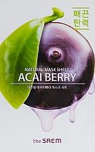 Fragrances, Perfumes, Cosmetics Acai Berry Sheet Mask - The Saem Natural Acai Berry Mask Sheet