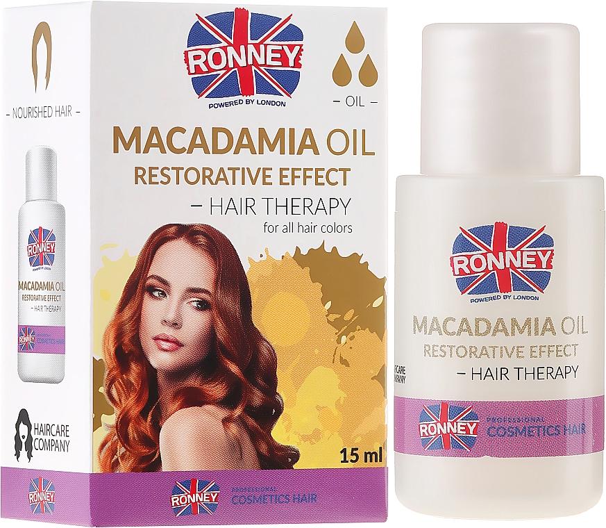 Firming Hair Macadamia Oil - Ronney Macadamia Oil Restorative Effect Hair Therapy