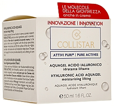 Fragrances, Perfumes, Cosmetics Hyaluronic Acid Moisturizing and Lifting Aqua Face Gel - Collistar Pure Actives Moisturizing Acid Aquagel