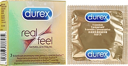 "Fragrances, Perfumes, Cosmetics Condoms ""Real Feel"", 3 pcs - Durex Real Feel"