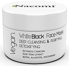 Fragrances, Perfumes, Cosmetics Activated Carbon Face Black-White Mask - Nacomi White & Black Face Mask