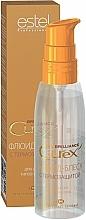Fragrances, Perfumes, Cosmetics Heat Protection Shine Fluid for All Hair Types - Estel Professional Curex Brilliance Fluid